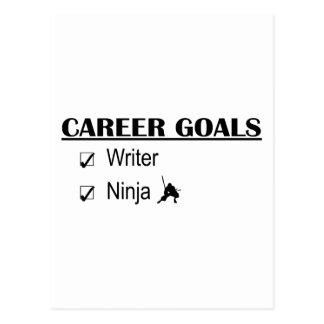 Ninja Career Goals - Writer Post Cards