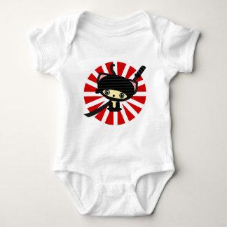 ninja cat kawaii baby bodysuit