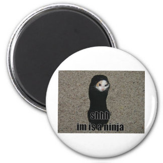 ninja cat 2 inch round magnet