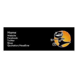 Ninja Cat Social Media Card Business Card Template