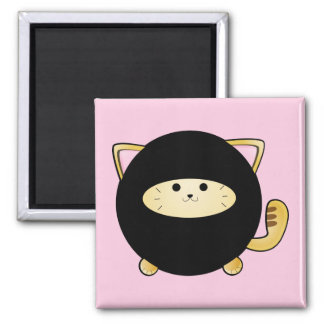 Ninja Cat Square Magnet