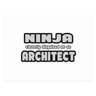 Ninja Cleverly Disguised As An Architect Post Cards