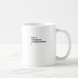 Ninja Coder CSS Class Coffee Mug