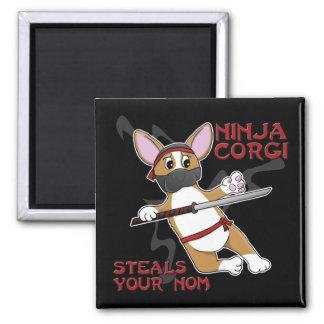 Ninja Corgi Magnet