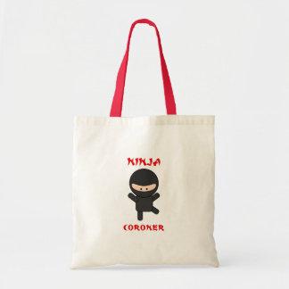 ninja coroner tote bag