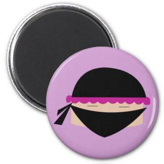 Ninja Cupcake 2 Inch Round Magnet