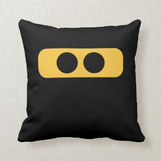 Ninja face throw pillow