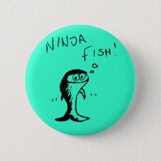 Ninja Fish Button Badge