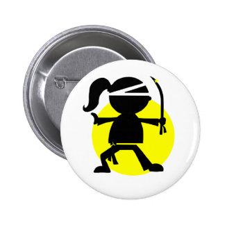 Ninja Girl Pin