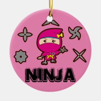 Ninja Girl Ceramic Ornament