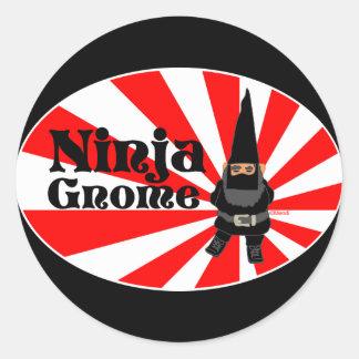 Ninja Gnome Round Sticker