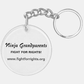 Ninja Grandparents Key Fob Double Sided Double-Sided Round Acrylic Keychain