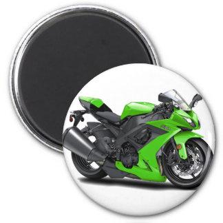Ninja Green Bike 2 Inch Round Magnet