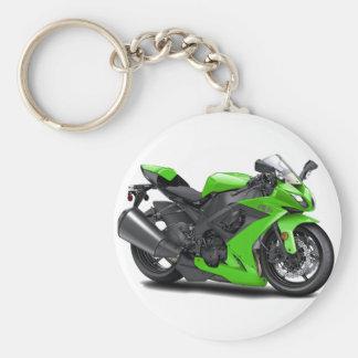 Ninja Green Bike Keychain