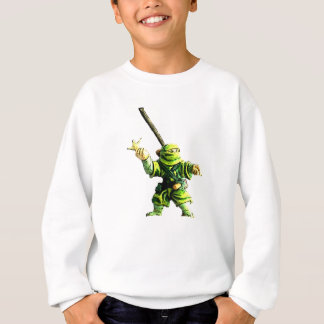 Ninja in Green Sweatshirt