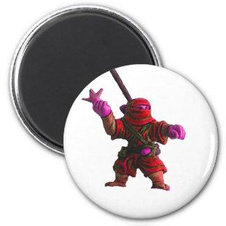 Ninja in Red Refrigerator Magnet