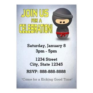 Ninja Invitation -Custom Card