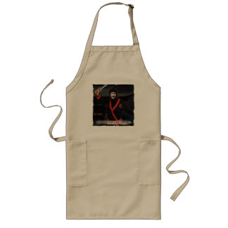 Ninja Japanese Warrior - with YOUR Photo & Text - Long Apron