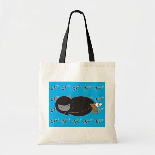Ninja Kitty and Mouse Sleeping Canvas Bags