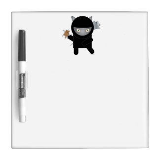 Ninja Kitty Dry Erase Board