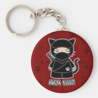 Ninja Kitty! In Red Keychain
