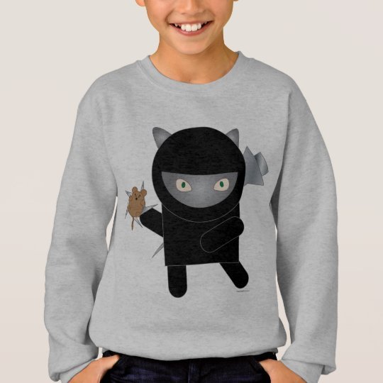 ninja kitty kids' sweatshirt