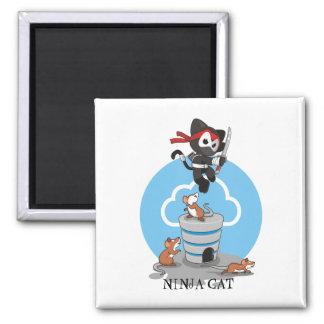 Ninja Kitty with Mice Magnet