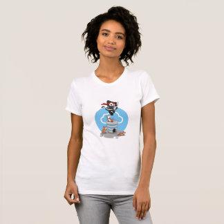 Ninja Kitty with Mice T-Shirt