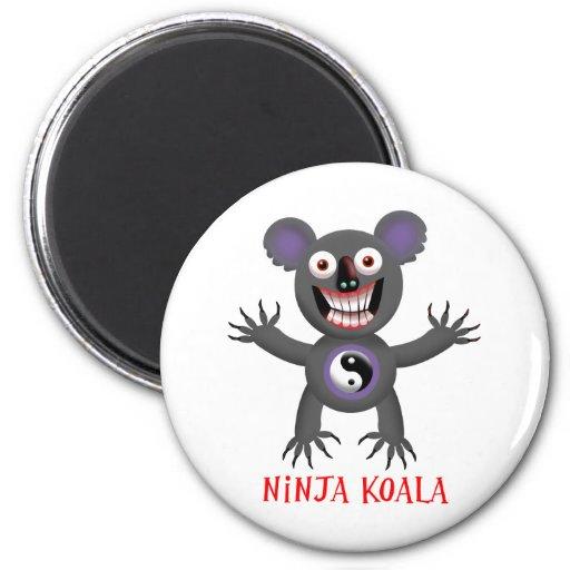 Ninja Koala Refrigerator Magnets