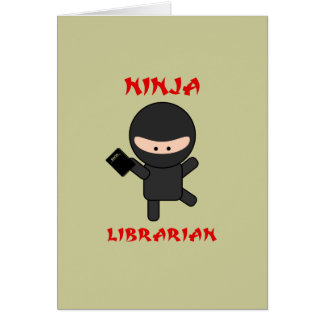 Ninja Librarian with Book Card
