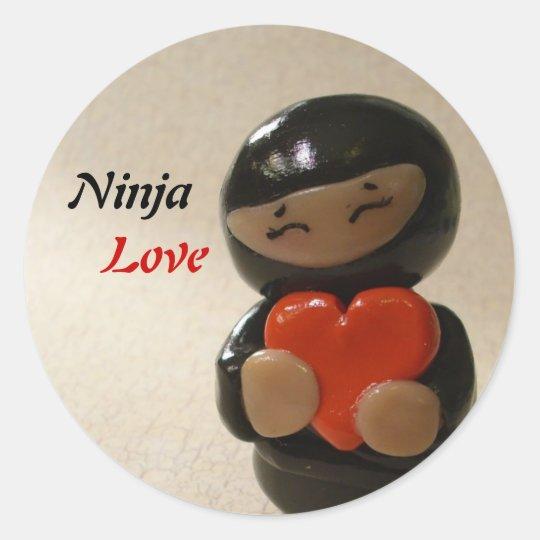 Ninja Love Classic Round Sticker