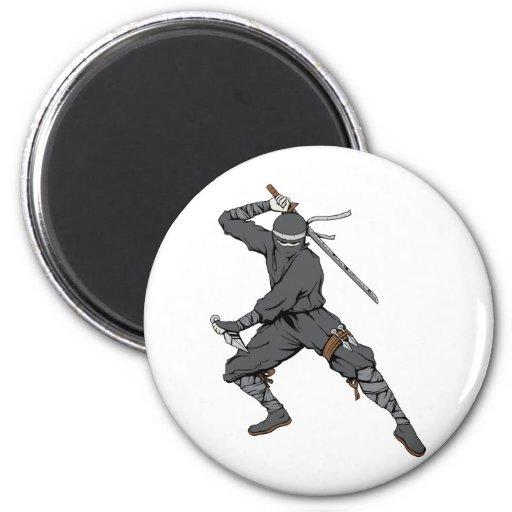 Ninja ~ Ninjas 2 Martial Arts Warrior Fantasy Art Fridge Magnet