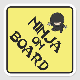 Ninja on Board Square Sticker