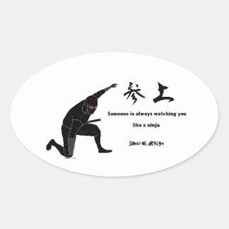 Ninja Oval Sticker