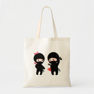 Ninja Pair, a Boy and a Girl Tote Bag