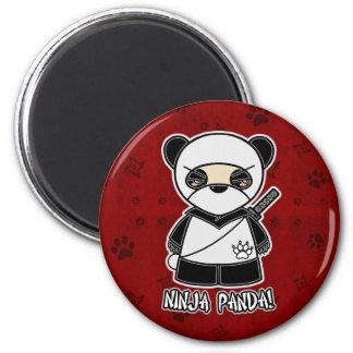 Ninja Panda In Red Magnet