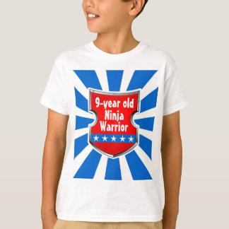 Ninja Patriotic Warrior Boys Kids Birthday Party T-Shirt