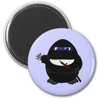 Ninja Penguin 2 Inch Round Magnet