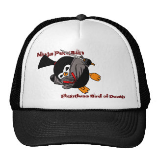 Ninja Penguin, Flightless Bird of Death Trucker Hat
