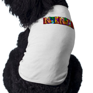 NINJA ~ PERSONALIZED BIG LETTER PET-WARE FOR DOGS! SHIRT
