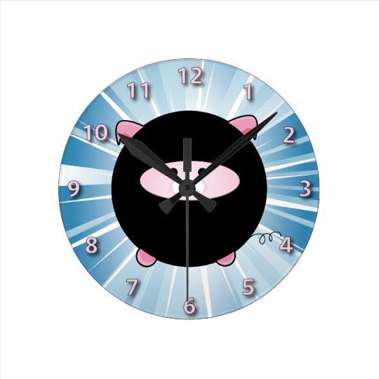 Ninja Pig on Blue Clocks