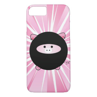 Ninja Pig on Pink iPhone 8/7 Case