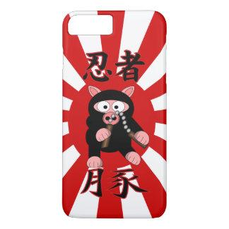 Ninja Pig Red starburst iPhone 8 Plus/7 Plus Case