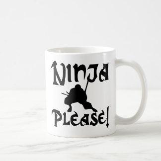 Ninja Please! Coffee Mug