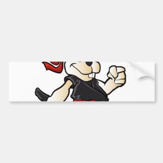 ninja rabbit cartoon bumper sticker