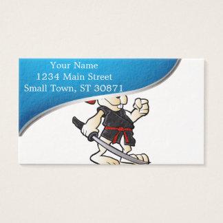 ninja rabbit cartoon business card