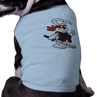 ninja rabbit cartoon dog tee