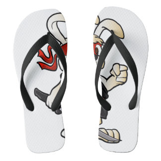 ninja rabbit cartoon flip flops