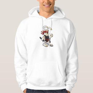 ninja rabbit cartoon hoodie