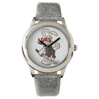ninja rabbit cartoon wrist watches